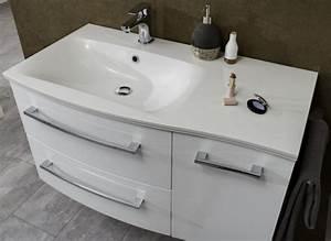 Waschtisch Mit Unterschrank 50 Cm Breit : marlin bad 3120 waschtisch mit unterschrank 90 cm breit badm bel 1 ~ Markanthonyermac.com Haus und Dekorationen