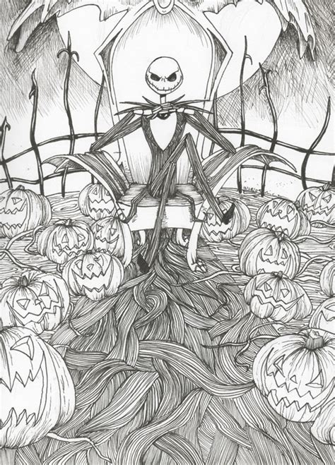 jack  pumpkin king coloring pages coloring home