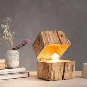 Walaba Holz Kaufen : b1 massive blockleuchte aus altholz braun 47345 ~ Markanthonyermac.com Haus und Dekorationen