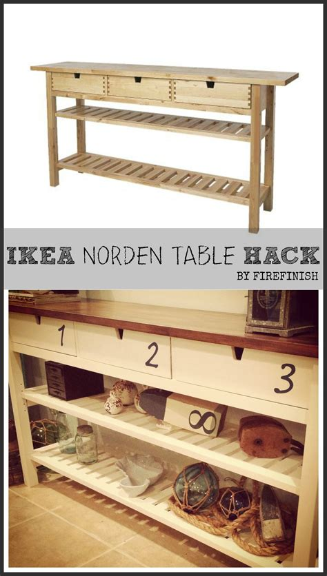 ikea hacknorden table hack stained top  numbers