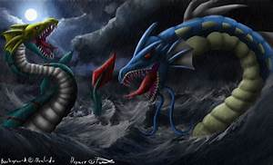Seadramon vs Gyarados by TritureChan on DeviantArt