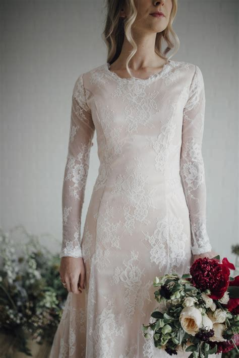 modest wedding dresses  long sleeves lds wedding