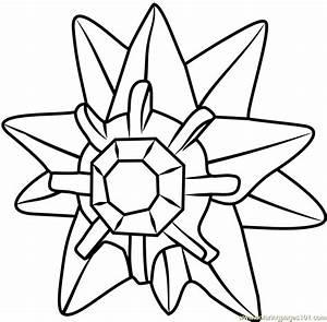 pokemon go coloring pages - starmie pokemon go coloring page free pok mon go