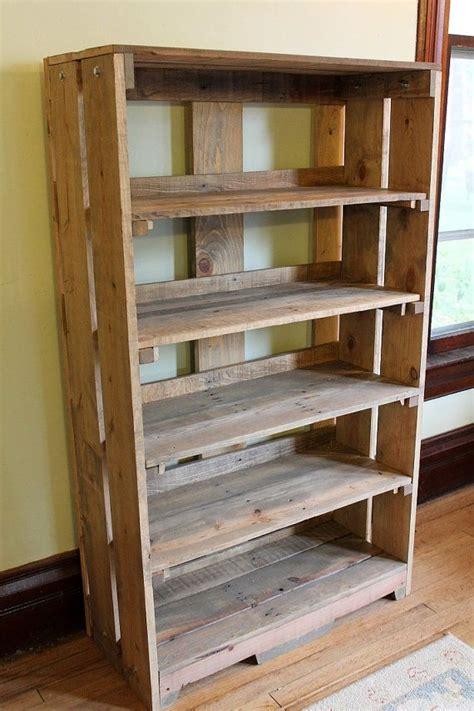wood bookshelf bookcase bookshelves pallet shelf