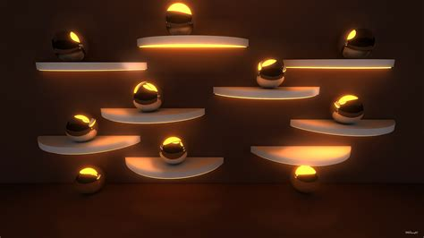 hd wallpaper shelf sphere light