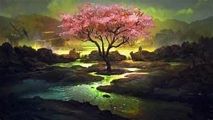 Pink Tree Art