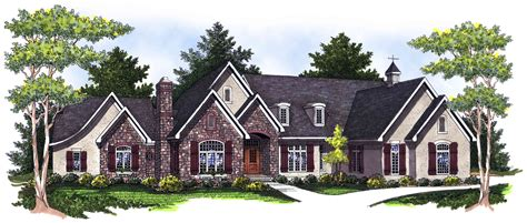 ranch  stone  stucco mix ah architectural designs house plans