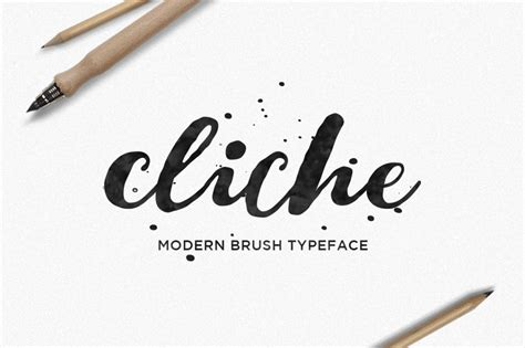 chance cliche  beautiful hand lettered brush font