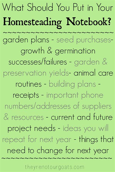 Keeping A Homestead (or Garden) Notebook Archives They