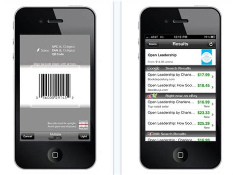scan for iphone ebay adds qr code scanning to redlaser barcode scanning