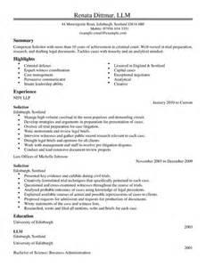 Professional Legal Resume Example