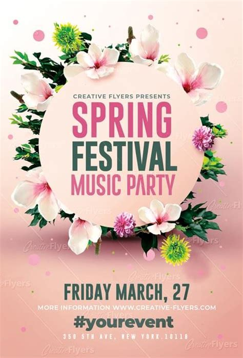 spring festival flyer psd templates creativeflyers