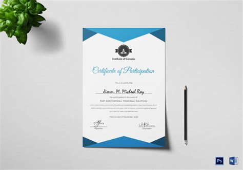 certificate template   documents   word