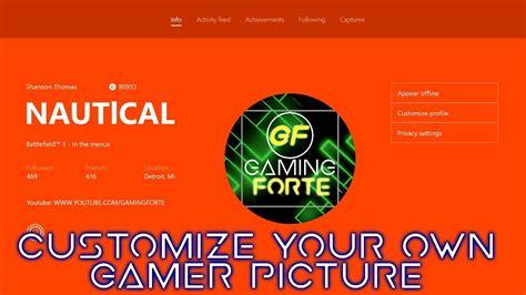 customize  upload   xbox  gamerpic youtube