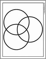 Circles Coloring Three Pages Shape Circle Printable Overlapping Print Squares Colorwithfuzzy sketch template
