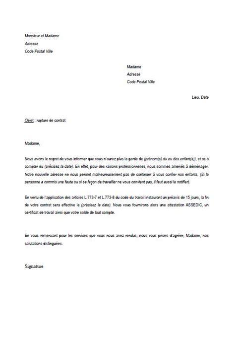 modèle lettre rupture contrat assistance maternelle pour scolarisation delphine ma nanou page 4