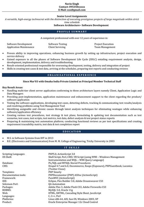 6 month experience resume for software developer www