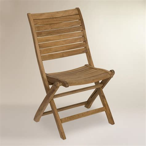 tanjun teak outdoor folding side chairs set of 2 world