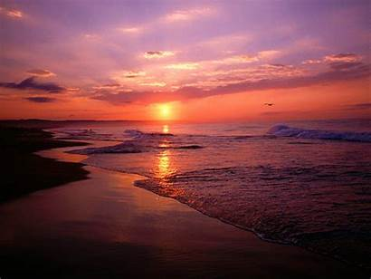 Sunrise Ocean Beach Newport California Sunset Sun