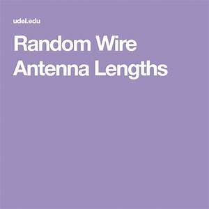 Random Wire Antenna Lengths
