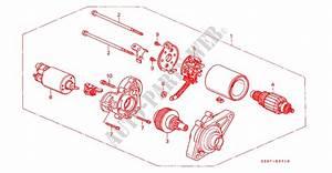 Starter Motor Mitsuba Engine 4wd 2001 Hr V Honda Cars
