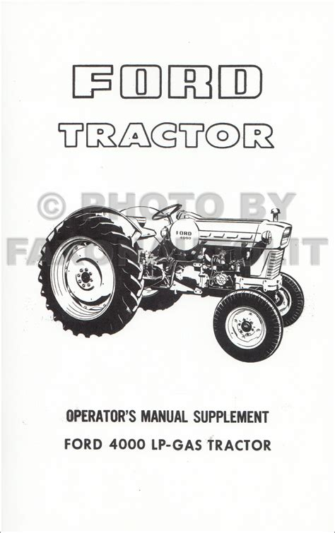 ford tractor  manual set