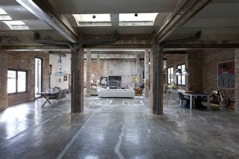 column style floor ls industrial loft from an old printing press by minim