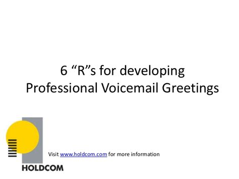 rs  professional voicemail