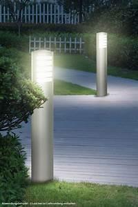 design stehleuchte aussen leuchte edelstahl garten lampe With französischer balkon mit garten stehleuchte