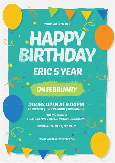 happy birthday invitation design