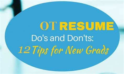 occupational therapy assistant resume format  tips