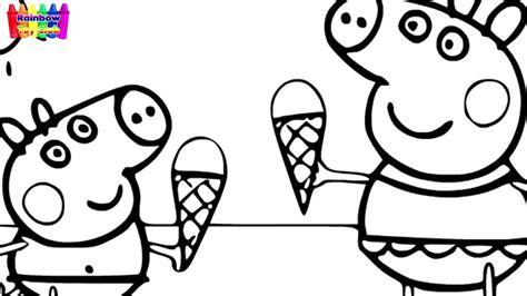 como dibujar peppa pig helado dibujos  ninos