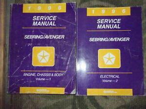 service manuals schematics 1996 dodge avenger security system 1996 chrysler sebring dodge avenger shop repair service manual set oem 2 volum ebay