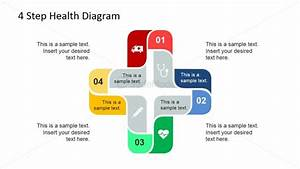 4 Steps Cross Diagram With Icons For Healthcare