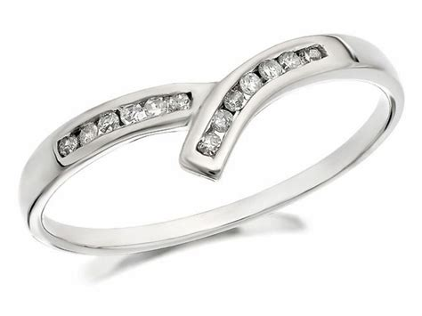 f hinds womens jewellery 9ct white gold diamond crossover