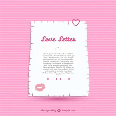 love letter template vector
