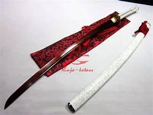 Handforged Red Blade Wave Tsuba Titanium Adsorb Folded ...
