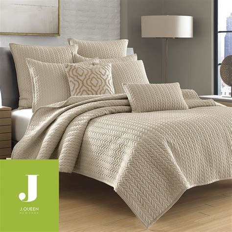 Coverlets Bedding by Camdyn Neutral Solid Color Quilted Coverlet From J By J