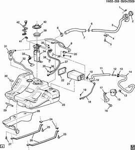 Chevrolet Impala Strap  Fuel Tank Evaporator  Purge Control