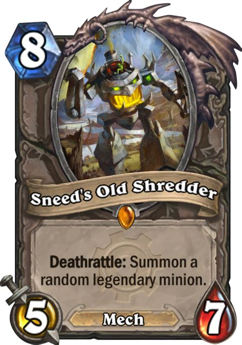 sneeds  shredder hearthstone card