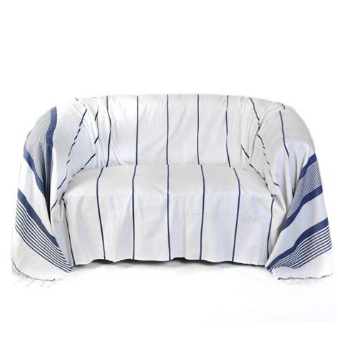jete canape jeté de canapé rectangulaire 2x3m fond blanc et rayures