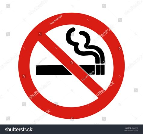 No Smoking Sign - Red Circle, Black Cigarette On A White ...