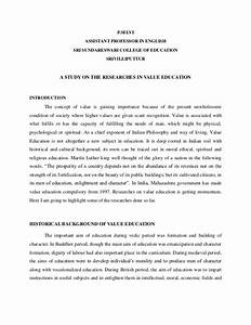 Essay On Value Education Proof Read Essays Online Essay On Value  Essay On Value Education Need Of The Hour Thesis Statement For An Essay also Ghostwriter Review  Mental Health Essays