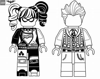 Lego Batman Coloring Joker Quinn Harley Pages