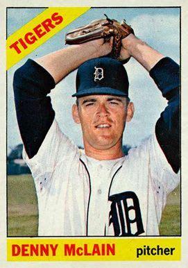 Baseball Cards Denny Mclain   Set Name 1966 Topps Card