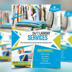 laundry service flyer by design station graphicriver With laundry flyers templates