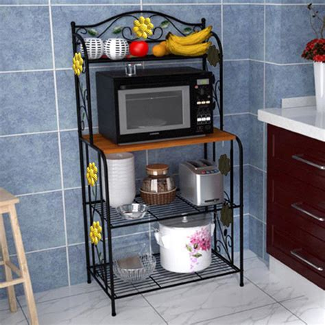 kitchen shelf storage home kitchen baker s rack utility microwave stand storage 2535
