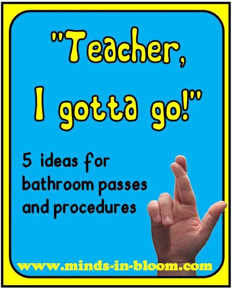 bathroom pass ideas 5 ideas for bathroom passes and procedures minds in bloom