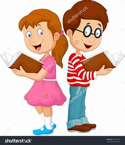 cartoon pictures of kids reading - Clipground