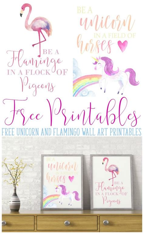be a be a flamingo and a unicorn free printables busy